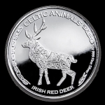 1 Unze Silber Tschad Celtic Animals Irish Red Deer 2019 BU