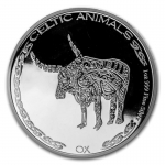 2020 Republic of Chad 1 oz Silver Celtic Animals (Ox)