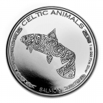 2021 Republic of Chad 1 oz Silver Celtic Animals (Salmon)