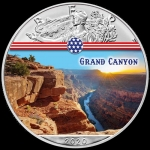 1 oz Silver American Eagle USA 2020 Colorized Grand Canyon Landmarks