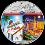 1 oz Silver American Eagle USA 2020 Colorized Las Vegas Landmarks