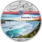 1 oz Silver American Eagle USA 2020 Colorized Niagara...