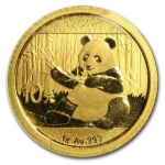 1 g Gold Panda Brilliant Uncirculated 2019