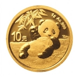 1 g Gold Panda Brilliant Uncirculated 2020