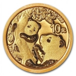 1 g Gold Panda Brilliant Uncirculated 2021