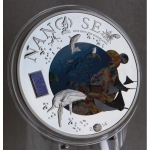 2014 Cook Islands Silver $10 Nano Sea Dive into the Blue...
