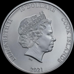2021 Cook Islands 2 oz Silver Classic Car Open Roads...
