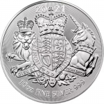 2021 Great Britain 10 oz Silver The Royal Arms BU
