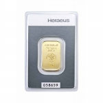 10 gram Heraeus Gold Bar (embossed) .9999 Fine (In Assay)