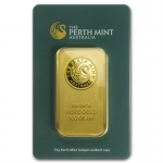 100 g Goldbarren Perth Mint - Känguruh 99,99 im Blister