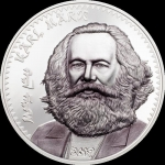 2019 Mongolia 1 oz Silver Karl Marx Proof