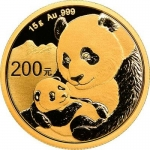 15 g Gold Panda Brilliant Uncirculated 2019