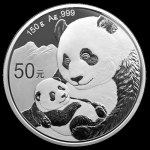 2019 China 150 gram Silver Panda Proof (w/Box & COA)