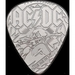 2 $ 2019 Cook Islands - 1/4 Oz Silber AC/DC - Guitar Pick...