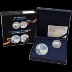 2-Coin Set Spanien 10 Euro 2019  50 Jahre Mondlandung Proof