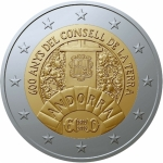 2 Euro Andorra 2019 600th Anniversary of Earth Council BU