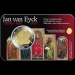 Belgium 2 Euro Jan van Eyck 2020 Coincard French Version