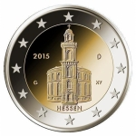 2 Euro Germany Hesse, St. Paul\'s Church, Frankfurt am...