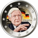 2 Euro Germany 2018 Helmut Schmidt coloured