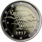2 Euro Finland 2007 90 Years Independence Proof in Box