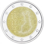 2 Euro Finland 2017  Independent Finland 100 Years
