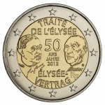 2 Euro Frankreich 2013 50th Anniversary of the Elysee Treaty