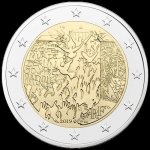 2 Euro Frankreich 2019 30 th Anniversary of Fall of Berlin Wall unc.
