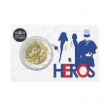 2 Euro Frankreich 2020 Medical Research Heroes in Coincard