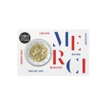 2 Euro Frankreich 2020 Medical Research Merci  in Coincard