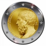 2 Euro Greece 2013 2400 Years Platon Academy