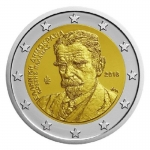 2 Euro Greece 2018 78 Years Day of Death of Kostis Palamas