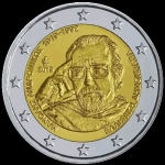 2 Euro Greece 2019  100 Years Day of Birth of Manolis...
