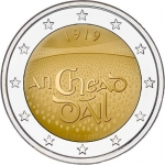 2 Euro Ireland 2019 100 Years Council Dáil...