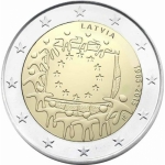 2 Euro Latvia 2015 30 Years European Flag