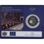 2 Euro Luxemburg 2007 Treaty of Rome in Coincard