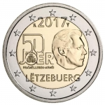 2 Euro Luxembourg 2017 Leger Volontary Military Service