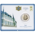 2 Euro Luxembourg 2017 William III in Coincard