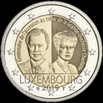 2 Euro Luxemburg 2019  Grand Duchess Charlotte  I-100tth anniversary of the Thron arching