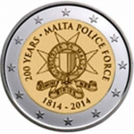 2 Euro Malta 2014 200 Years Malta Police Force