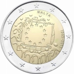 2 Euro Malta 2015 30 Years European Flag