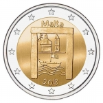2 Euro Malta 2018 Cultural Heritage (Series of Children with Solidarity) unc.