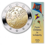 2 Euro Malta 2020 Childs in Solidarity  in Coincard