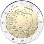 2 Euro Portugal 2015 30 Years European Flag