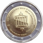 2 Euro San Marino 2015  25 Years German Unity in Coincard