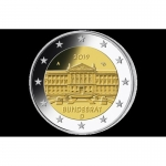 2 Euro Germany 2019 70 Anniversary of BUndesrat Germanyt Mintmark A for Berlin