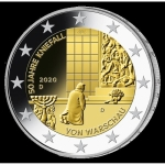 2 Euro Germany 2020 Kneeling in Warszaw Mintmark D...