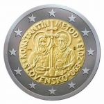2 Euro Slovakia 2013 1150. Anniversary of the der Mission of Kyrill and  Method
