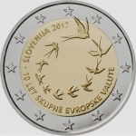 2 Euro Slovenia 2017  10 Years Euro in Slovenia