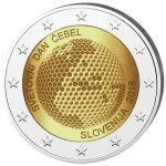 2 Euro Slovenia 2018 World Bee Day