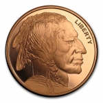 2 oz Copper Buffalo Round .999 Fine